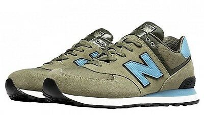 NEW BALANCE Mens 574 Trainers GREEN/BLUE Casuals Shoes NEW UK LIMITED STOCK