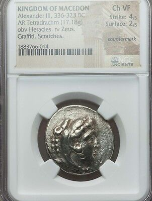 Kingdom of Macedon Tetradrachm NGC Choice VF 4/2 Ancient Silver coin