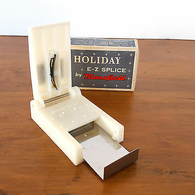 Vintage Mansfield Holiday E-Z Splice 8mm Film Cutter/Splicer 60s Original Box