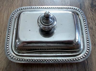 Vintage Silverplate Lidded Butter Dish Cheese Miniature Salesman Sample