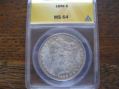 1896-P Morgan Silver Dollar  Anacs Ms64