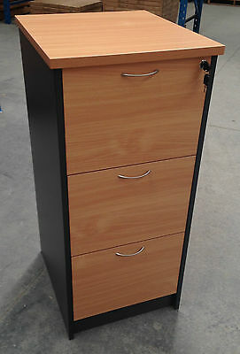 Office 3 Drawer Filing Cabinet- Beech/Ironstone
