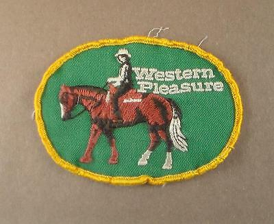 Vintage Western Pleasure Embroidered Patch