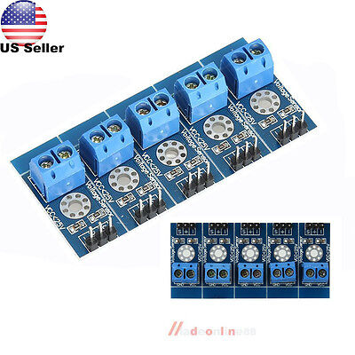 5Pcs Voltage Detection Sensor Module for Arduino Analog IICLCD1602 LCD Display