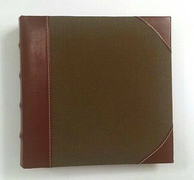 Burnes of Boston Leather and Cloth Brown Photo Album - holds 196 4x6 photos