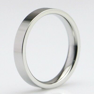 12x Silver Polished 4mm Wedding Band Stainless Steel Rings For Men and Women