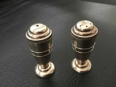 Salt And Pepper Shakers Devon Silver Plate ....