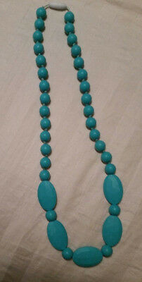 NWOT Baby Teething Necklaces for Mom Turquoise Silicone BPA Free