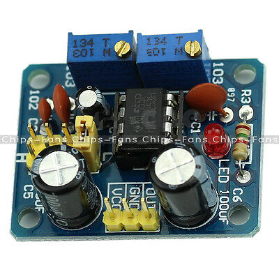 New DIY NE555 Duty Cycle and Frequency Adjustable Square Wave Module Kit