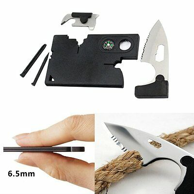 Outdoor SOS Survival Multifunction 10 in1 Pocket Credit Card Knife Camping Tools