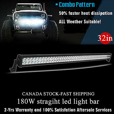 32 inch 180W LED Light Bar Off Road Truck Driving Boat Ford Jeep SUV 4x4 30/34