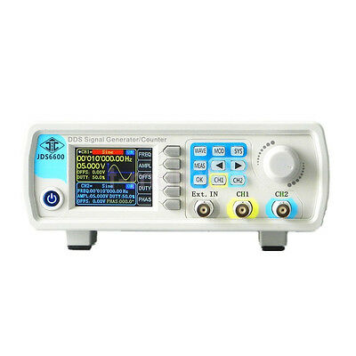 New 40MHz LCD Display Dual Chanel Arbitrary Wave DDS Function Signal Generator