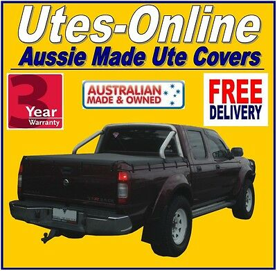 Nissan Navara Dual Cab STR D22 With Factory Sport Bar Ute Tonneau Cover 09 to 15
