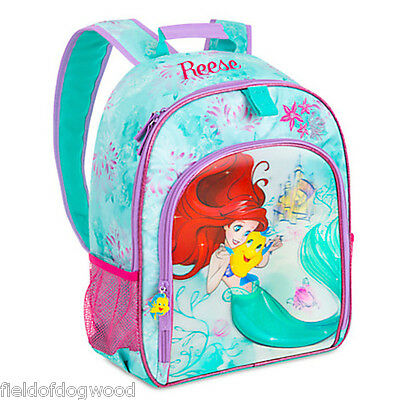 NWT Disney Store The Little Mermaid Ariel & Flounder Backpack 3D Princess  Girls