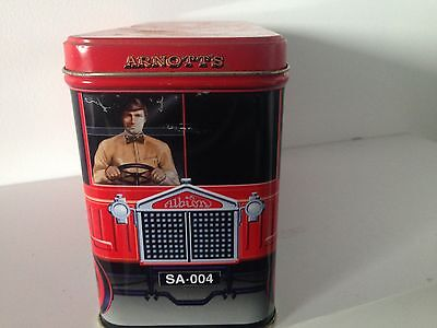 Arnotts 450grams Biscuit Tin  - Red Truck empty - 1998 Collectable