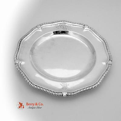 Antique Gadrooned Charger Plate Sterling Silver London Late 18th Century