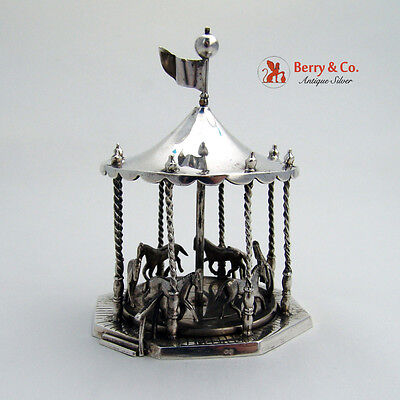 Miniature Carousel Sterling Silver French Import Marks 1880