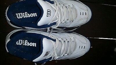 Wilson tennis shoes Us 9.5 Uk 9. White / blue as - new.