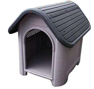 Solid Hard Plastic Pet Dog House Kennel Weather Resistant