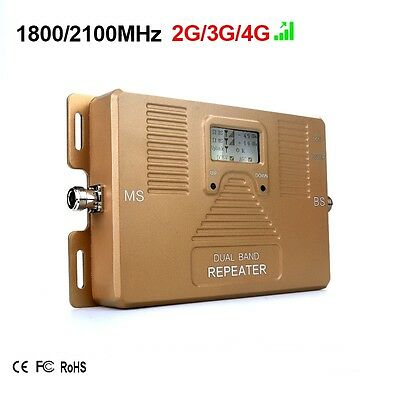 ATNJ Dual Band 1800/2100mhz 2G 3G 4G Mobile Signal Booster Repeater Amplifier