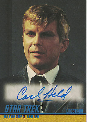 Star Trek TOS 40th Anniversary (2006) A104 Carl Held autograph