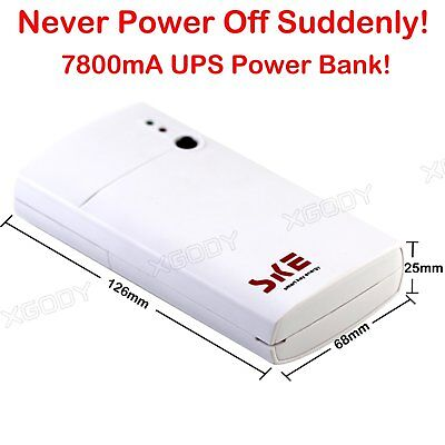 XGODY 7800mA UPS Power Bank Backup Portable USB Apc Battery for TV/Camera/Modem