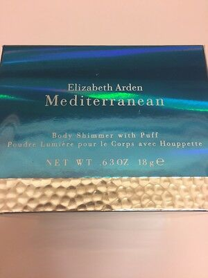 MEDITERRANEAN by Elizabeth Arden - BODY SHIMMER WITH PUFF .63 OZ