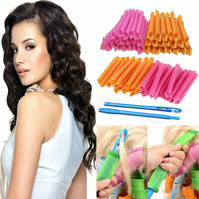 LEVERAG Magic Hair  Magic Circle Hair Styling Rollers Curlers Lever perm 18pcs