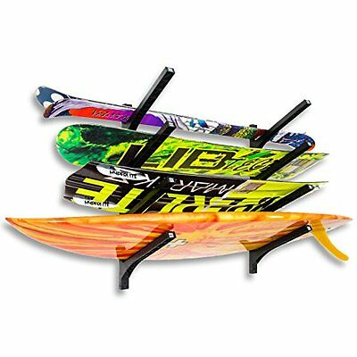 Nice Rack Quad Surfboard Wall Rack - Four Boards Wall-mounted Expandable System