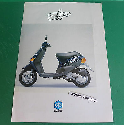 PIAGGIO ZIP 50 scooter PUBBLICITA DEPLIANT BROCHURE CATALOGUE
