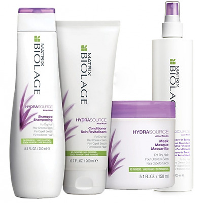 MATRIX Biolage Hydrasource Shampoo+Balsamo+Mask+Spray KIT CAPELLI