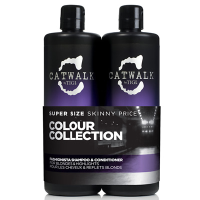 TIGI Kit Catwalk Fashionista Violet Shampoo+Balsamo 750ml ANTIGIALLO
