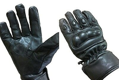 Men Summer Knuckle Protective  Motorbike /motorcycle Leather Gloves