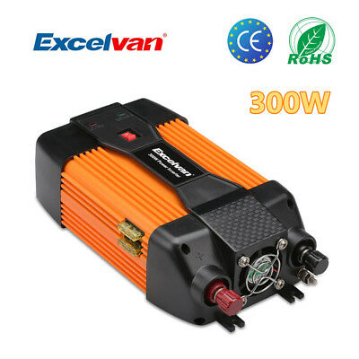 Excelvan 300W Modified Sine Wave Power Inverter 600W Peak 12V DC to 230V AC AU