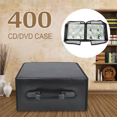 400 Disc Carry Case CD/DVD Bluray Storage Holder Carrying Case Bag CD Storage