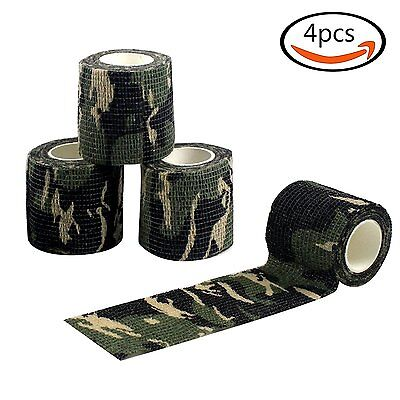 4X 4.5m Camo Military Wrap Rifle Waterproof Hunting Camping Stealth Tape