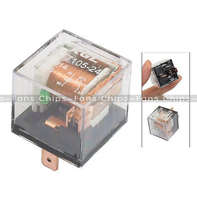 DC 12V 80A 1NO 1NC SPDT 5 Pins Green Indicator Light Truck Car Relay UK