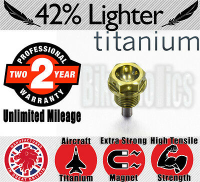 Oil Drain Bolt - Titanium - Magnetic- Suzuki GS 500 E - 1995