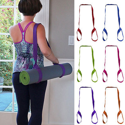 Adjustable Yoga Mat Sling Carrier Shoulder Carry Strap Belt Exercise Stretch New