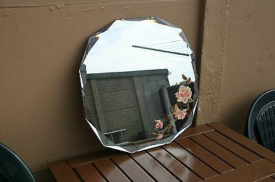 Art Deco Bevel Edged Painted Mirror
