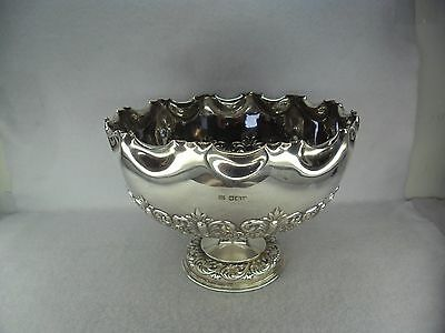 Pretty Sterling Solid Silver Large Rose Bowl, Sheffield 1902