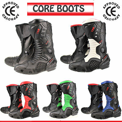 Xtrm Core Adults Motorcycle Motorbike Leather Sports Armour Boots