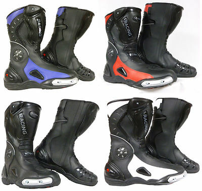 Motorcycle Motorbike Scooter Racing Sports Boots Xtrm 705 Blk,white,blue,red