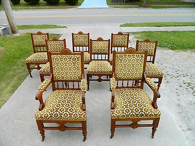 Gorgeous Solid Walnut Victorian Eastlake Dining Chairs~~Set of 8~~circa 1880