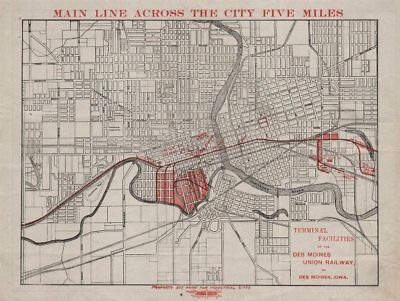 Terminal facilities of the Des Moines Union Railway. Des Moines, Iowa c1919 map