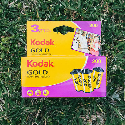 Kodak GOLD 200 ISO 35mm Colour Negative Film (3 Rolls)