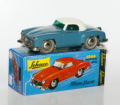 Originaler Schuco Micro Racer Nr. 1044 - Mercedes 190SL in Reprobox