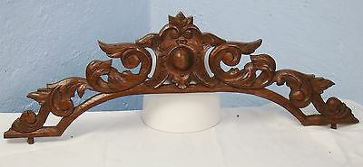 US0003 Antique Wood Pediment: French Hand Carved Oak Overdoor Architectural
