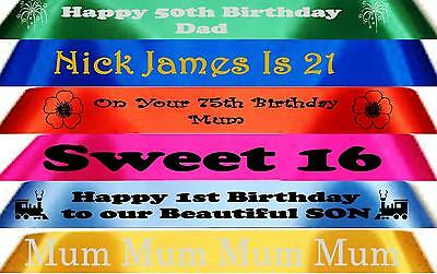 45mm Personalised Printed Birthday Ribbon  for Cakes,Gifts,Decoration Etc