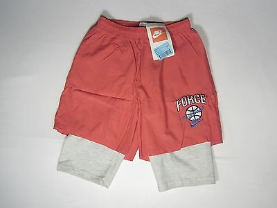 NOS 1990s NIKE POINT FORCE SHORTS Basketball Gray Tag Delta Challenge Court Air